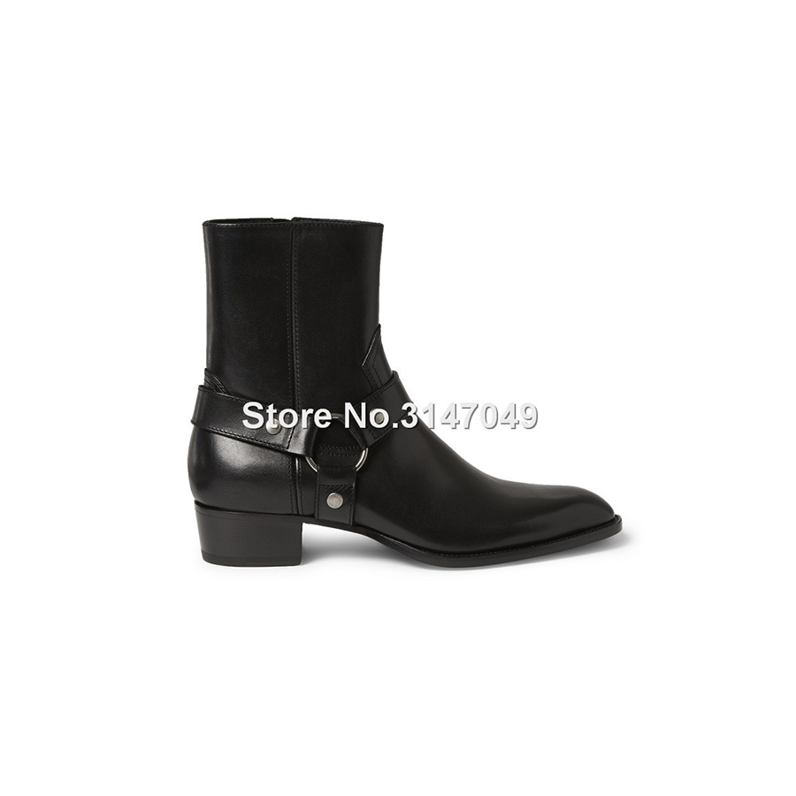 OKHOTCN Vintage Men Chelsea Boots Genuine Leather Suede Rome Style Man Ankle Boots Zipper Male Casual Buckle Shoes Sapato Botas