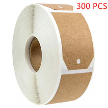 300pcs/roll Wedding decoration stickers seal labels 1.2 x 2 inch Natural Kraft Holiday Present envelope Gift Tags Gifts, Craft