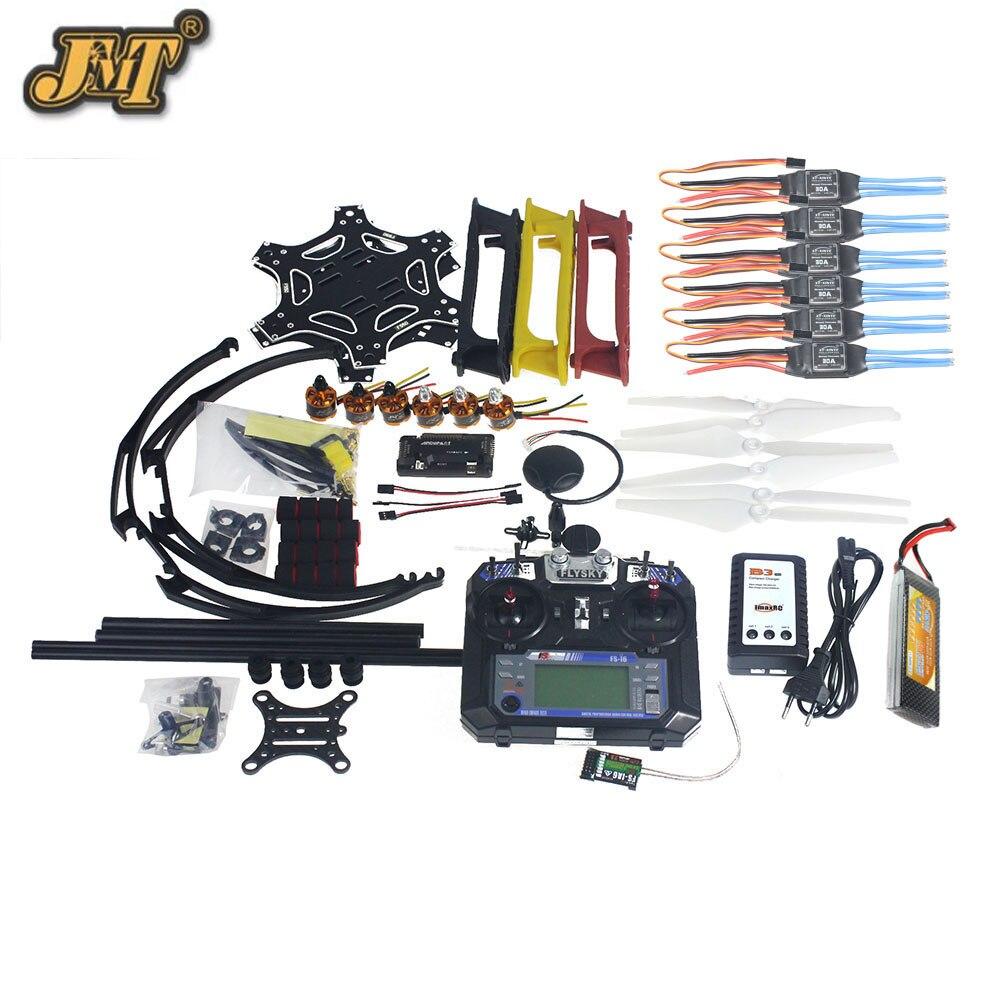 JMT полный набор Мультикоптер RC Drone 6 оси комплект для самолета F550 hexa-ротор воздуха Рама gps Полетный контроллер apm2.8 Камера Gimbal PTZ