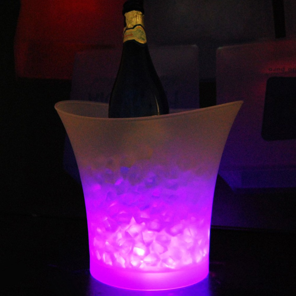 5 Liters Volume Plastic Led Ice Bucket Color Changing Bars