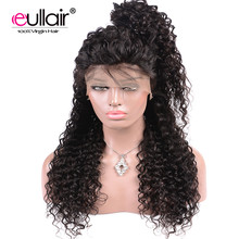 eullair Malaysian 360 Lace Frontal Wigs Water Wave with Baby Hair 150% Density Human Hair Lace Front Wigs For Black Women(China)