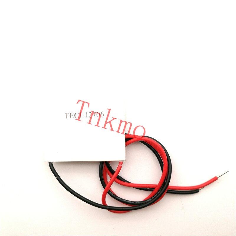 1PCS the cheapest price TEC1 12706 TEC 1 12706 57.2W 15.2V TEC Thermoelectric Cooler Peltier (TEC1-12706) 1pcs water cooling block 50x50x12mm 1pcs cooler peltier tec1 12706