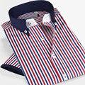 Смарт пять мужской С Коротким Рукавом Рубашки мужская одежда Класса Люкс Тонкий Мужчины Повседневная Рубашка