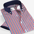 Smart five male Short Sleeve Shirts men's clothing Luxury Slim Men Casual Dress Shirt
