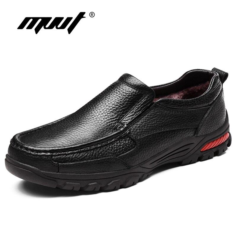 MVVT/большие размеры, обувь из натуральной кожи, Мужская зимняя обувь без шнуровки, мужские лоферы, повседневная обувь, увеличивающая рост, де...