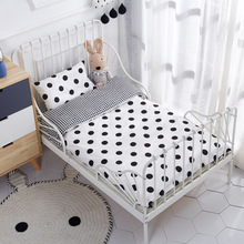 Free Ship 3 Pcs Baby Bedding Set Pure Cotton Woven Crib Bed includes Pillowcase Bed Sheet Duvet Cover Without Filler hot sale 3 pcs baby cot set crib bedding linen 100% cotton baby bedding set pillow case bed sheet duvet cover without filling