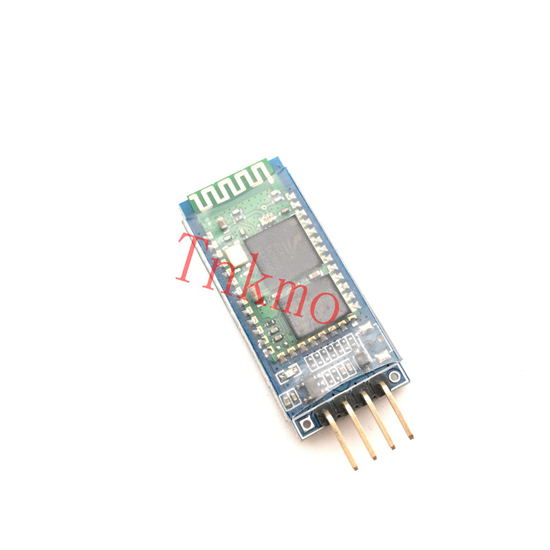 10pcs HC06 HC-06 Wireless Serial 4 Pin Bluetooth RF Transceiver Module RS232 TTL for Arduino bluetooth module freeshipping rs232 to zigbee wireless module 1 6km cc2530 chip
