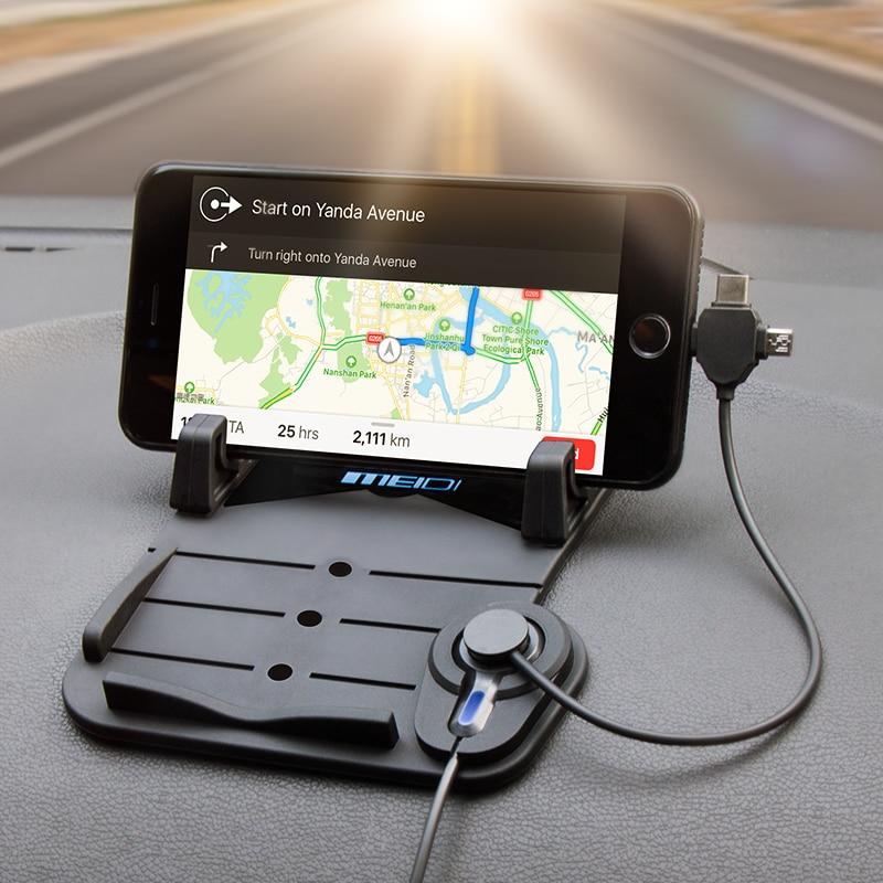MEIDI Bilmontering Telefonlader Holder USB med DC 5V 2.1A Porta - Bilinnredningstilbehør - Bilde 2
