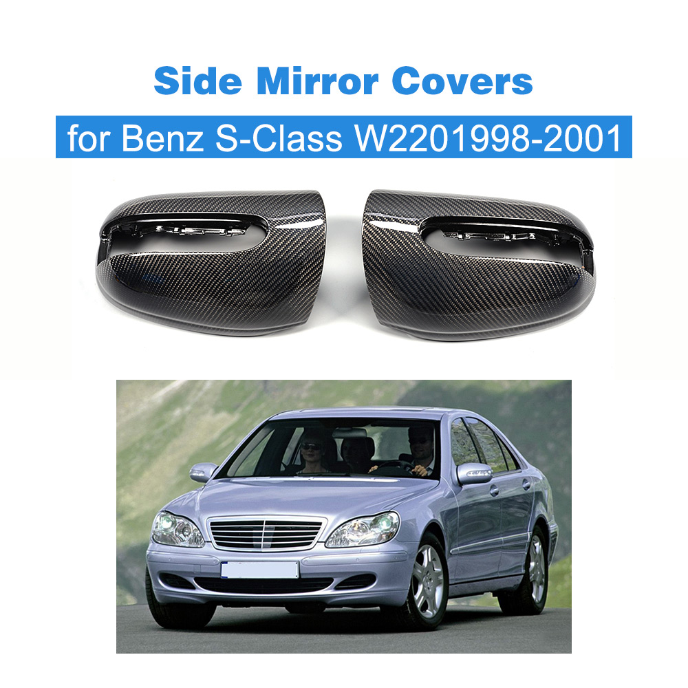 Carbon Fiber Side Mirror Covers For Mercedes Benz 1998