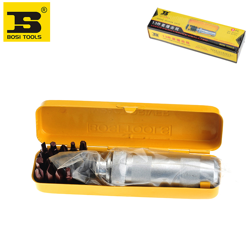 ФОТО free shipping BOSI 13PC Manual Hand Screwdrivers Impact Driver Set