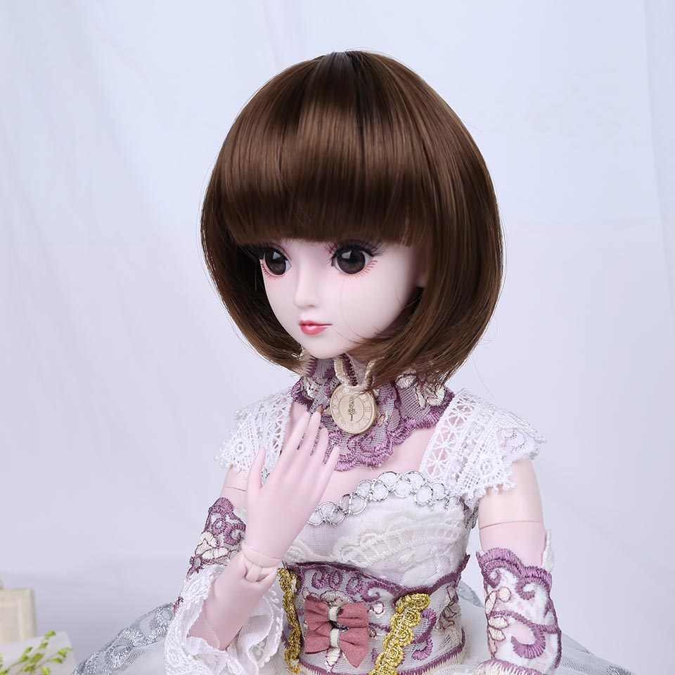 Bybrana Модные Стиль ярмарка размеры 1/3 1/4 BJD SD парики MSD длинные коричневые высокое температура волокно волос для аксессуары кукол