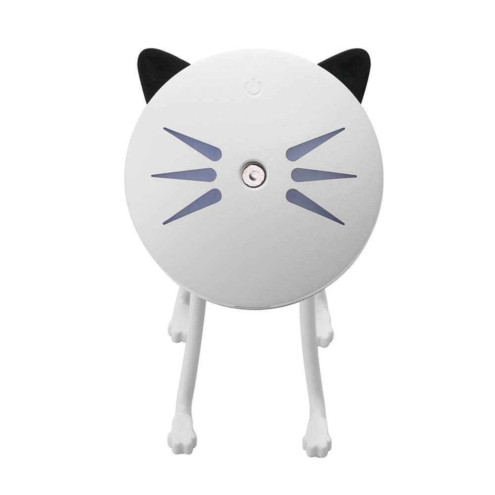 Ultrasonic Mini Cat Shape USB Air Humidifier Diffuser Mist Sprayer For Office Home Car LED Night Light Purifier Atomizer portable mini air humidifier purifier night light with usb for home office decorations