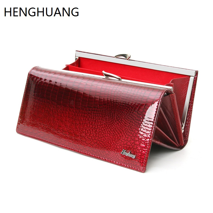 Genuine Leather Women Wallets Alligator Long Clutch Wallet Cow Leather Female Purse Famous Designer Womens Wallets And Purses