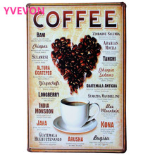 LOVE HEART COFFEE Metal Decor Plaque and Retro Picture for coffee beans for shop boutique and kitchen LJ5-4  20x30cm