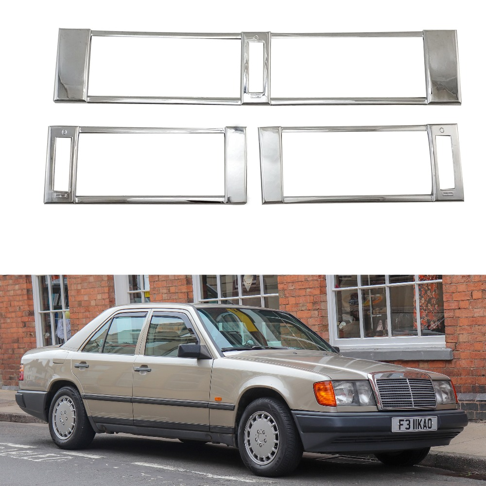 For Mercedes-Benz W124 1984-1996 High-quality 3PCS ABS Chrome Air Conditioning Outlet Decora AIR-CONDITION COVER Car Accessories