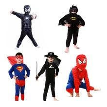 Bambini Costume di Halloween del Vestito di Carnevale Batman Cosplay Spiderman Fantasia Film Avengers Anime