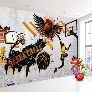Custom 3D Wall Murals Wallpaper Basketball Poster Photo Background Wallpaper For Bedroom Walls Papel Tapiz Mural Papel De Parede