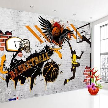 Custom 3D Wall Murals Wallpaper Basketball Poster Photo Background For Bedroom Walls Papel Tapiz Mural De Parede