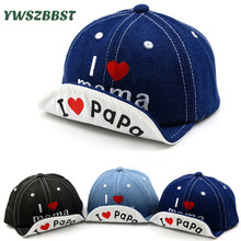 Cartoon Baby Boy Hat Cowboy Hat Cute Love PaPa MaMa Baby Hat Baseball Cap Cotton Baby Girls Summer Sun Hat Spring Autumn Caps spring autumn winter baby beanie hat new born baby photography props children boys girls knitted i love papa mama baby caps h774