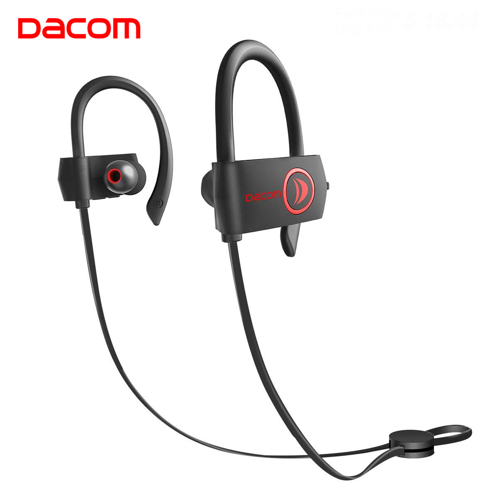 DACOM L08 High Quality Sport Blutooth Earphone IPX7 Bluetooth Wireless Headphones Headset with Microphone Handsfree for iPhone 6 10pcs mini blutooth earphone small wireless s530 headset microphone earphone micro s530 earpiece sport headphones for xiomi sony
