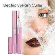 Portable Electric Beauty Heated Eyelash Curler Pen  Makeup tool Eyebrow Eye Lashes Tweezers Kit