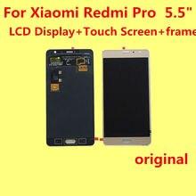 """Original para xiaomi redmi pro 5.5 """"lcd display + touch screen + frame digitalizador asamblea lente de cristal reemplazo dará funda de silicona"""