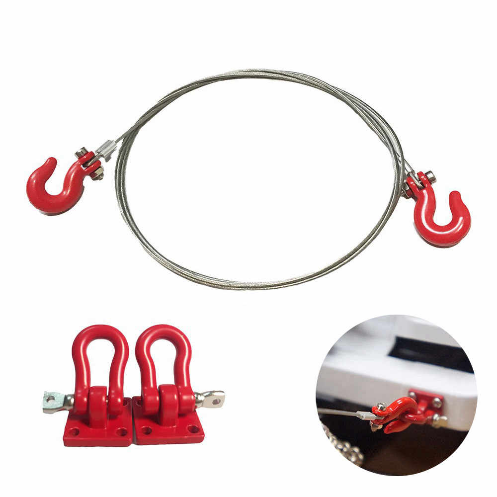 1/10 Crawler Accessory Heavy Duty Hook Steel Cable for RC Climbing Crawler Car