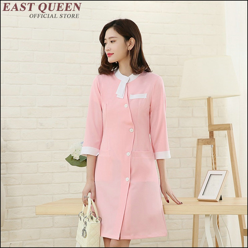 2018 hospital medical doctor uniform clothing summer Scrub Nurse Costume Clinic Female Nurse Uniform out robe lab AA3499 a