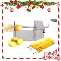 Hot Selling! Fast Delivery Manual Spiral Potato Cutter, Stainless Steel Twisted Potato Slicer, French Fry Cutting Machine