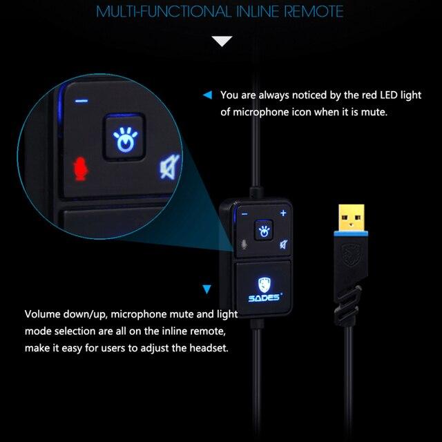 SADES Locust Plus 7.1 Surround Sound Headphones 2