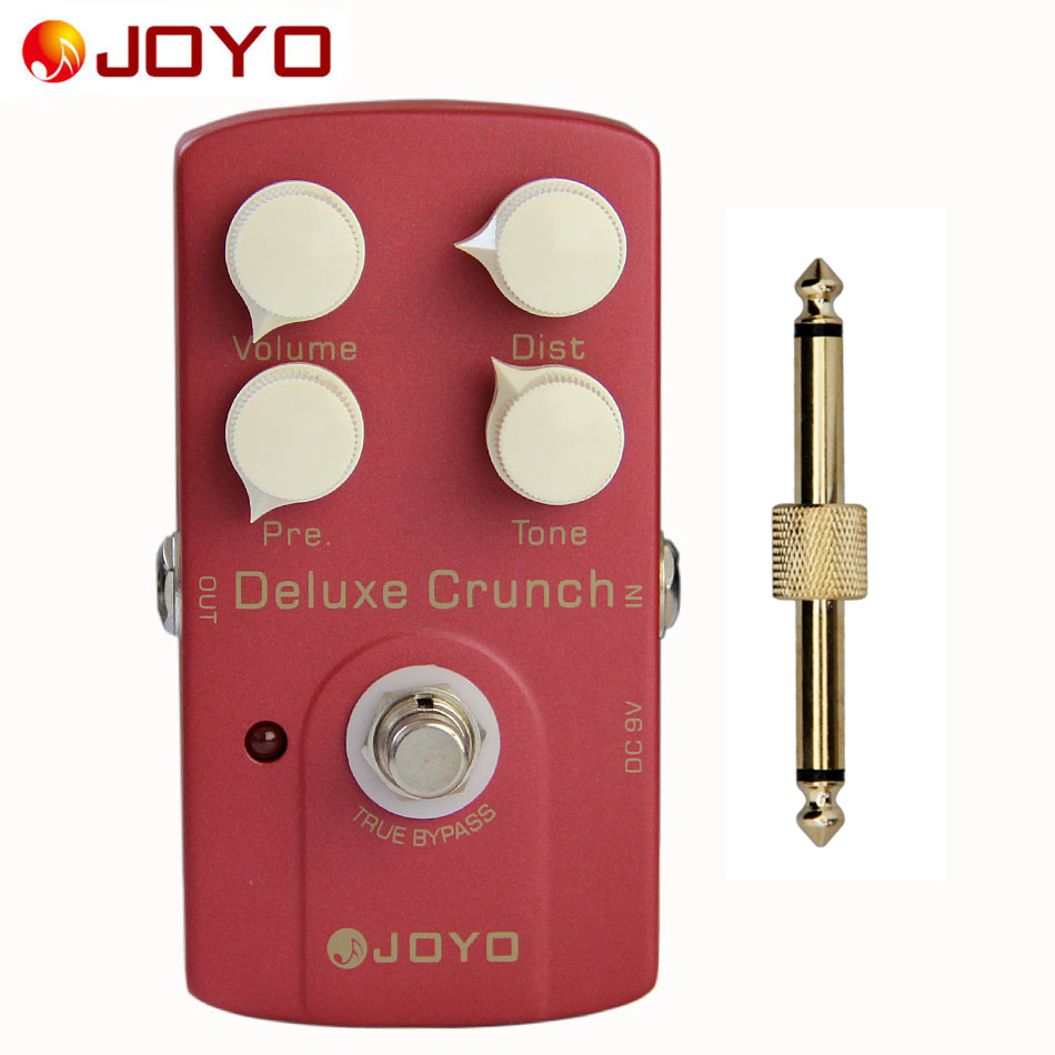 JOYO JF-39 Deluxe Crunch Distortion Pedal with True Bypass Design and Pedal Connector / Guitar Parts Accessories social distortion social distortion somewhere between heaven and hell lp