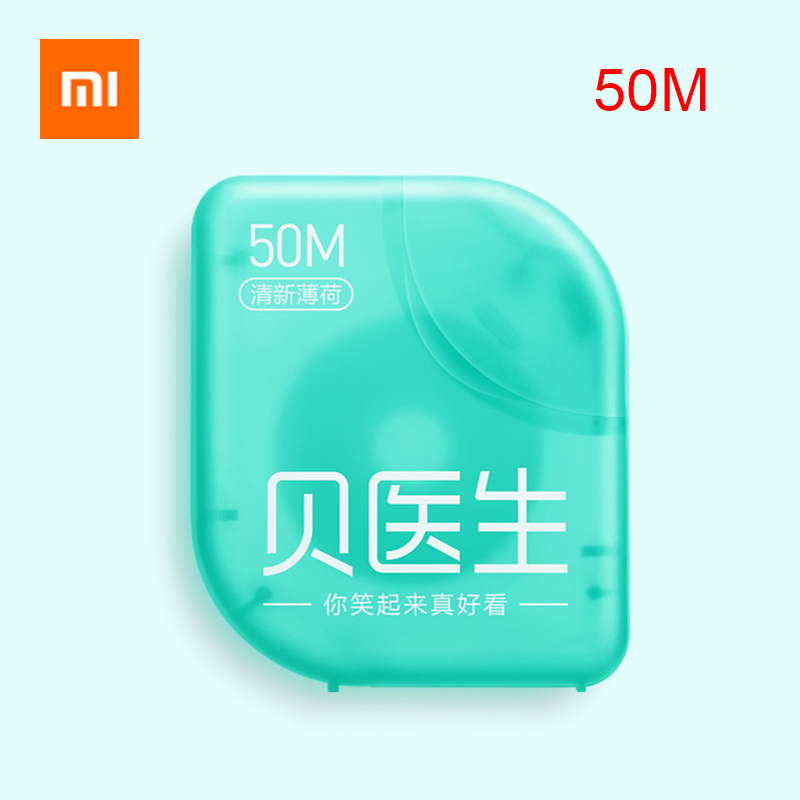 3 Pack Xiaomi Portable 50M Dental Floss Flosser Tape Mint Flavor Interdental Brush Tooth Floss Pick Oral Hygiene Clean Wire-in Smart Remote Control from Consumer Electronics