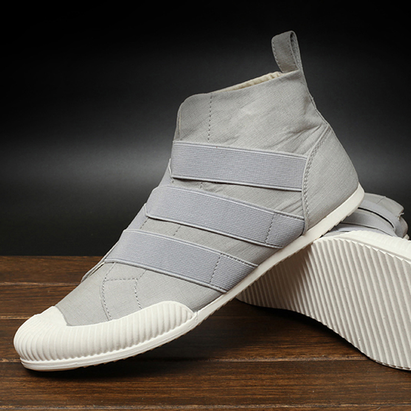 ФОТО SHOES MEN High upper Washed canvas Exclusive design handmade breathable absorbent slip resistant  Foot men's shoes