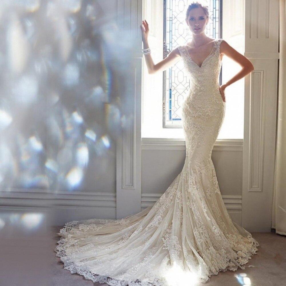 Achetez en gros dentelle v cou robe de mariage en ligne for Fournisseurs de robe de mariage en gros