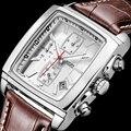 Homens Relógio Militar esportes JEDIR Luminous Chronograph relógio de Pulso De Couro Marca De Luxo relógio de Quartzo Masculino relógio relogio masculino