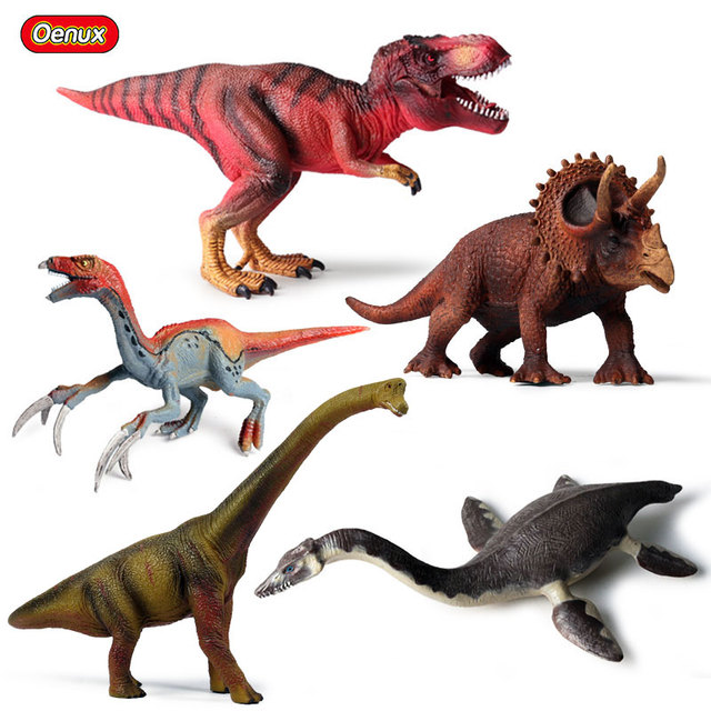 Oenux Prehistoric Savage Therizinosaurus T-Rex Dinosaurs Model Action Figures Jurassic Dinossauro Brinquedo Figures Toy For Kids