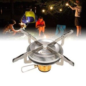 Image 5 - Lixada di Campeggio Pieghevole Stufa A Gas Set con Adattatore di Testa di Conversione del Gas Fornello Da Campeggio Bruciatore A Gas Wndshieldalcohol Stufa