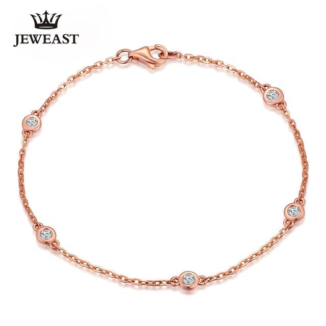 Das mulheres 18 k ouro rosa pulseira com instricate jeweast diamante moda & romantic ouro pulseira para senhora/mulher diamante-jóias