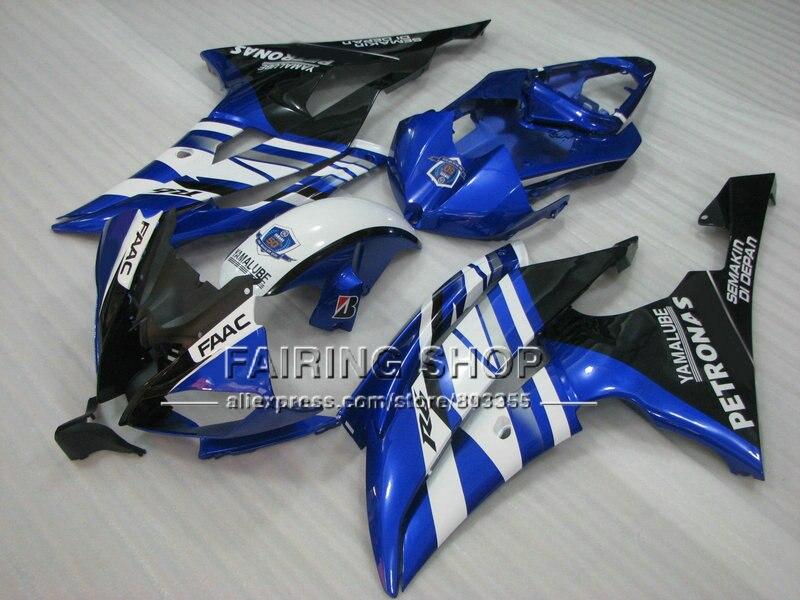Aftermarket мотоциклов Обтекатели для Yamaha 2008 2009 2011 2013 YZF-R6 литья под давлением синего части тела YZFR6 08-13 faac YZF1000 R6