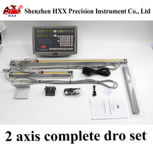 hxx complete 2 axis dro kit gcs900-2db digital readout and 2 pcs linear scales/encoder/sensor 5 micron 50-1000mm for machines