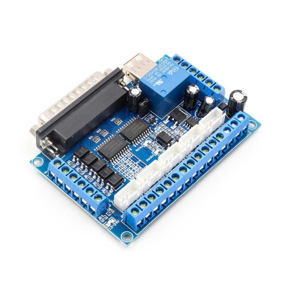 5 axis CNC Breakout Board Stepper Motor Driver MACH3 Parallel Port Control Module Controller with Optical Coupler USB Cable5 axis CNC Breakout Board Stepper Motor Driver MACH3 Parallel Port Control Module Controller with Optical Coupler USB Cable