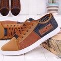 Zapatos de los hombres zapatos Casuales zapatos chaussure homme 2015 lona de la manera caliente Más El tamaño 6-10.5 de Color Caqui