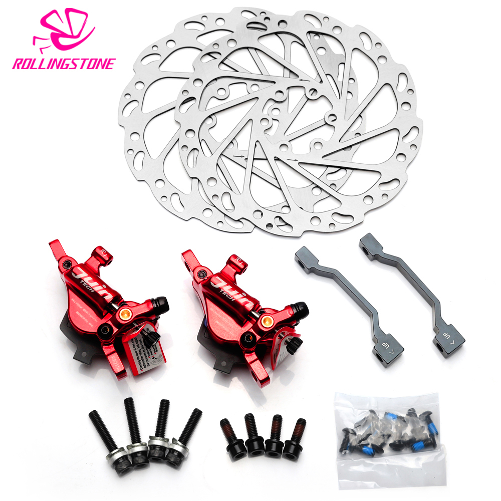 Juin Tech R1 bicycle disc brake set cable line pull hydraulic Disc Caliper rotor 160mm MTB XC Road CX GRAVEL CYCLOCROSS 290g original hayes dyno dot4 xc mtb bicycle hydraulic disc brake system