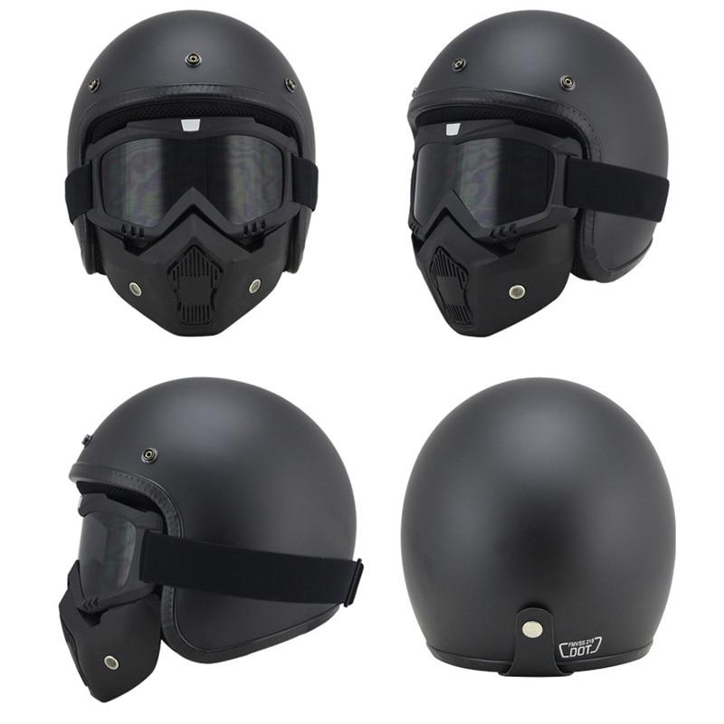 vintage motorcycle helmets MTB ATV Dirt bike 3 4 Helmets Skull Cool Goggles Personalized ruby helmet