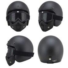 vintage motorcycle helmets MTB ATV Dirt bike 3/4 Helmets Skull Cool Goggles Personalized ruby helmet motorcycle