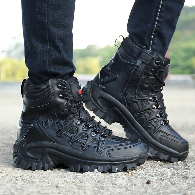 Men Professional Tactical Hiking Boots Waterproof Breathable DELTA Shoes Combat Military Boots Camping Mountain Sports Sneakers