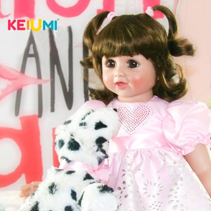 купить KEIMUI Lifelike Princess Silicone Reborn Baby Dolls 55 cm Kids Playmates 22 Inch Stuffed Doll Lovely Baby Girl Birthday Gifts по цене 5439.8 рублей