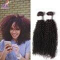 Bruto eurasia virgen del pelo grado 6a kinky culry extensiones de cabello humano 3 unids el envío gratis afro rizada rizada del pelo 8 - 26 ''