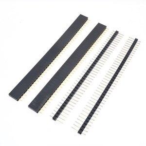 Image 1 - Бесплатная доставка, 1 партия = 10 шт., 1x40 контактов, 2,54 мм, Однорядный женский + 10 шт., 1x40 штырьковый разъем