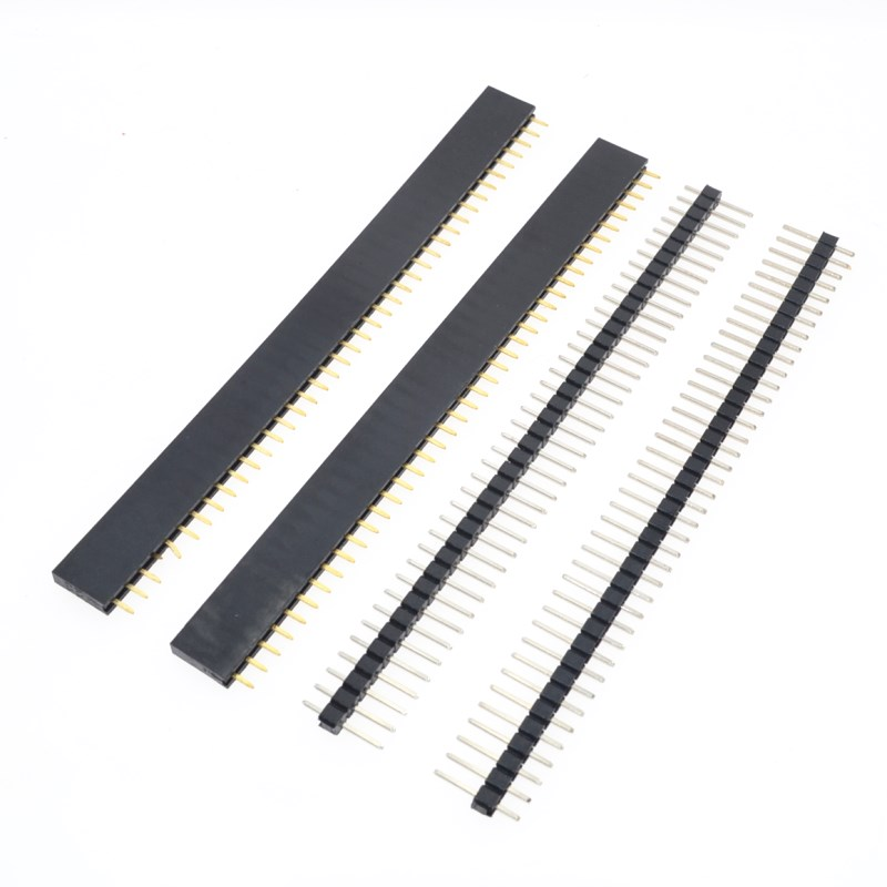 Free Shipping 1lot=10pcs 1x40 Pin 2.54mm Single Row Female + 10pcs 1x40 Male Pin Header connector-in Integrated Circuits from Electronic Components & Supplies